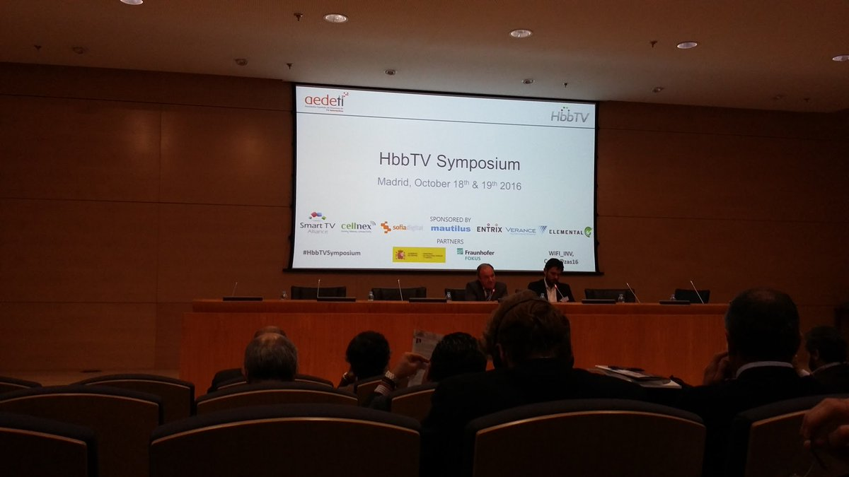 1st day #HbbTVsymposium in Madrid! Glad to meet you there! #HbbTV