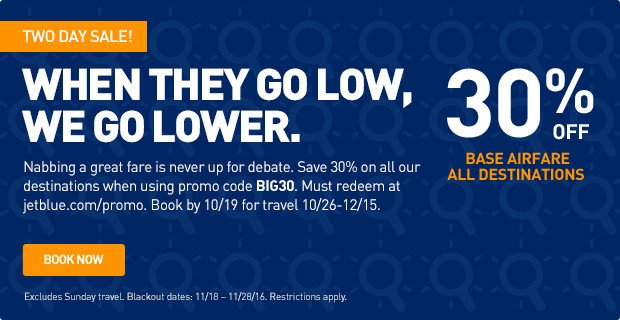 Jetblue coupon codes 2018