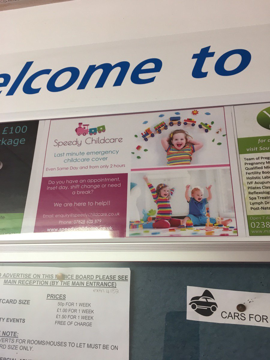 speedy childcare on twitter ads are up around the princess anne speedy childcare on twitter ads are up around the princess anne hospital in southampton now speedychildcare princessannehospital