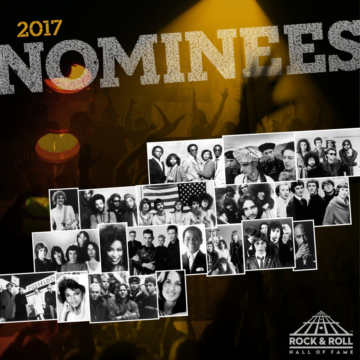"rock hall on twitter: ""announcing the #rockhall2017 nominees - see"