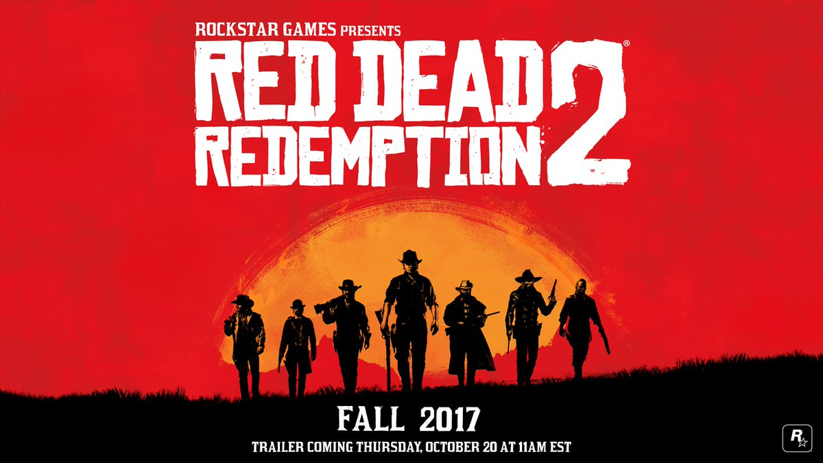 RED DEAD REDEMPTION 2 Coming Fall 2017 #RDR2 https://t.co/ZacUJ48wvE