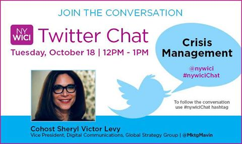 The cohost for today's Twitter chat is @MktgMavn #nywicichat https://t.co/AFmMGBZzLR