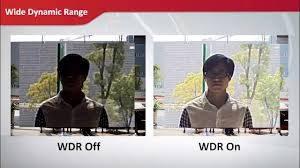 Caméra de surveillance HDR et WDR