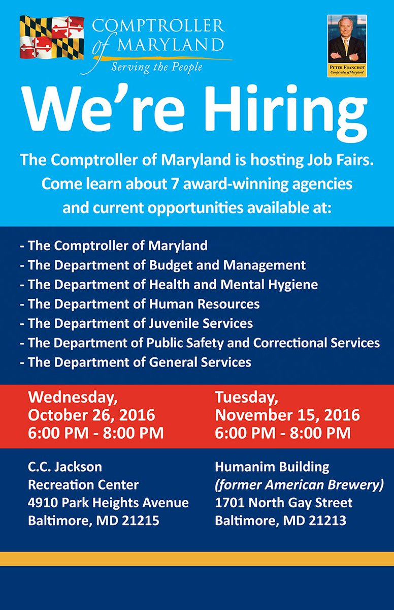 Maryland State Jobs (@Marylandgovjobs) | Twitter