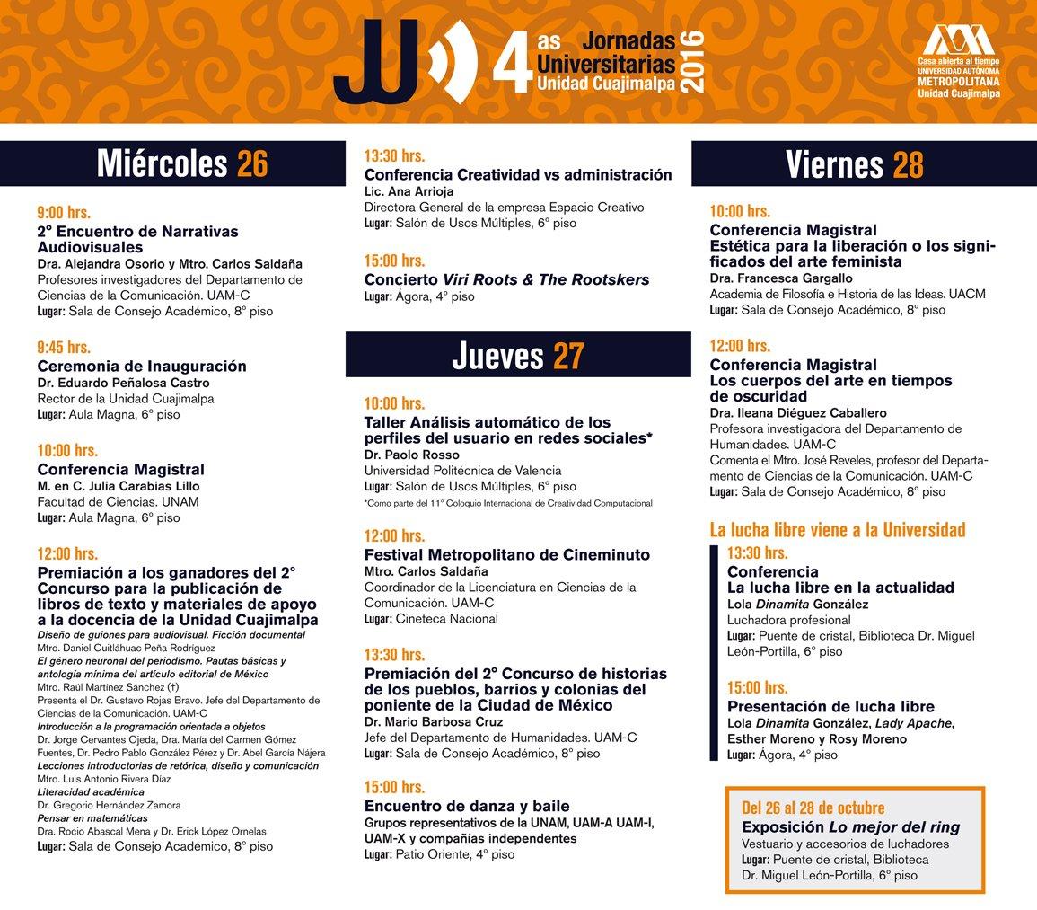 La lucha libre presente en las Jornadas Universitarias de la UAM Cuajimalpa 2