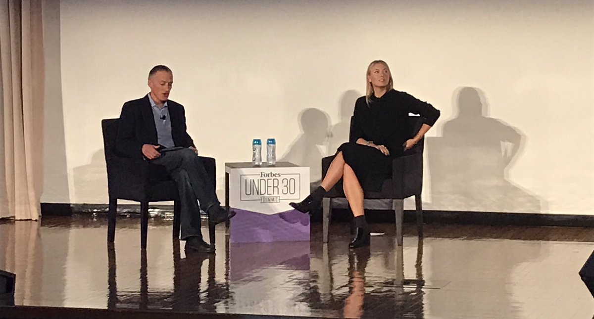 Wrapping up the day is @MariaSharapova! #Under30Summit https://t.co/3EQLXnL2H5