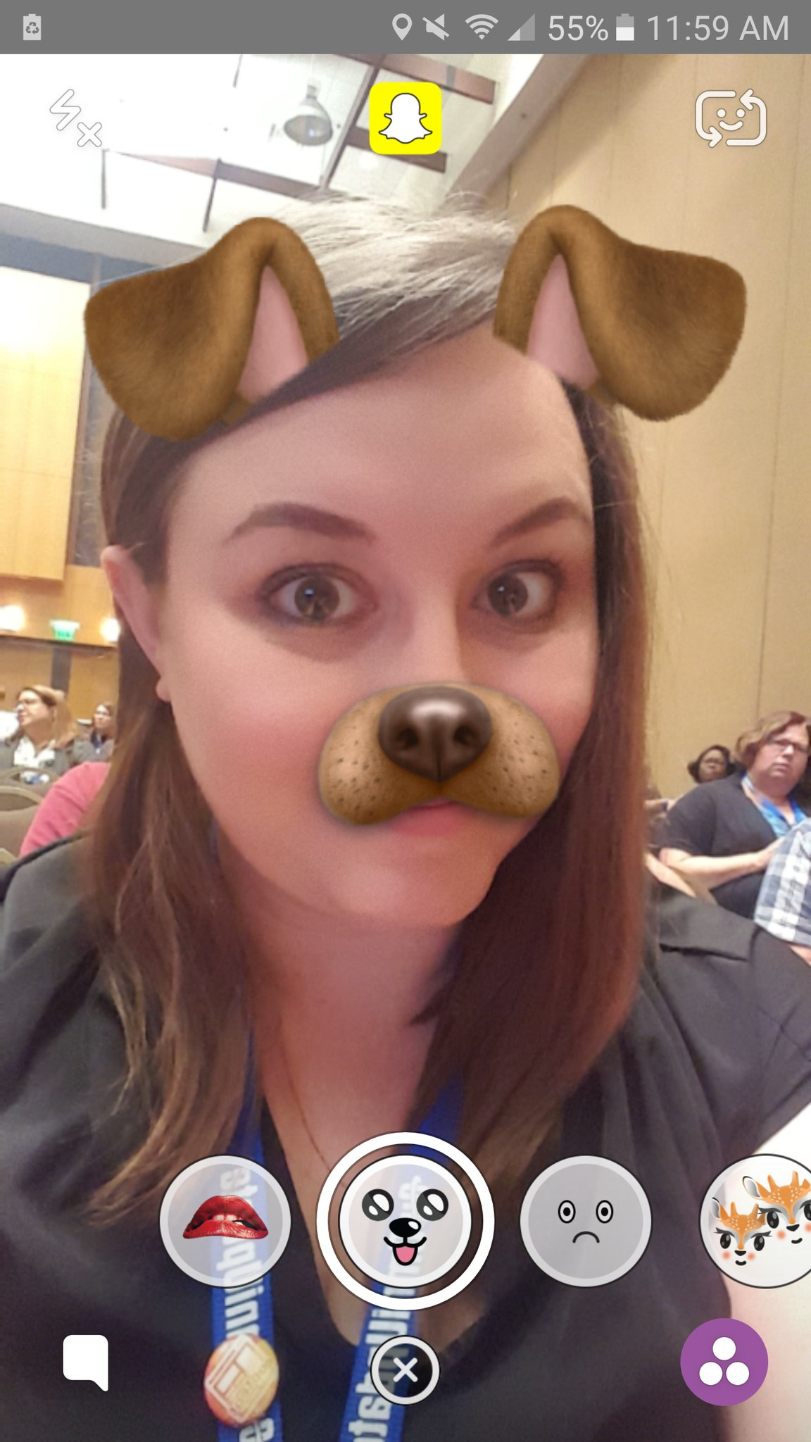 Snapchat filters=lenses and use computers vision to recognize your face! #heweb16 #mcs10 https://t.co/GJvJQAgAOG