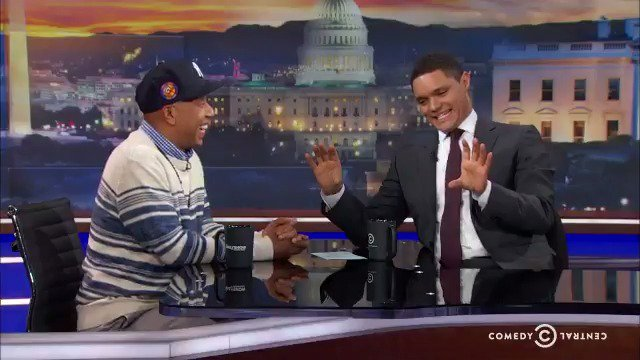 RT @ComedyCentral: Russell Simmons tells Trevor what he thinks of Donald Trump running for president. #DailyShow https://t.co/WxeAcsqVdC