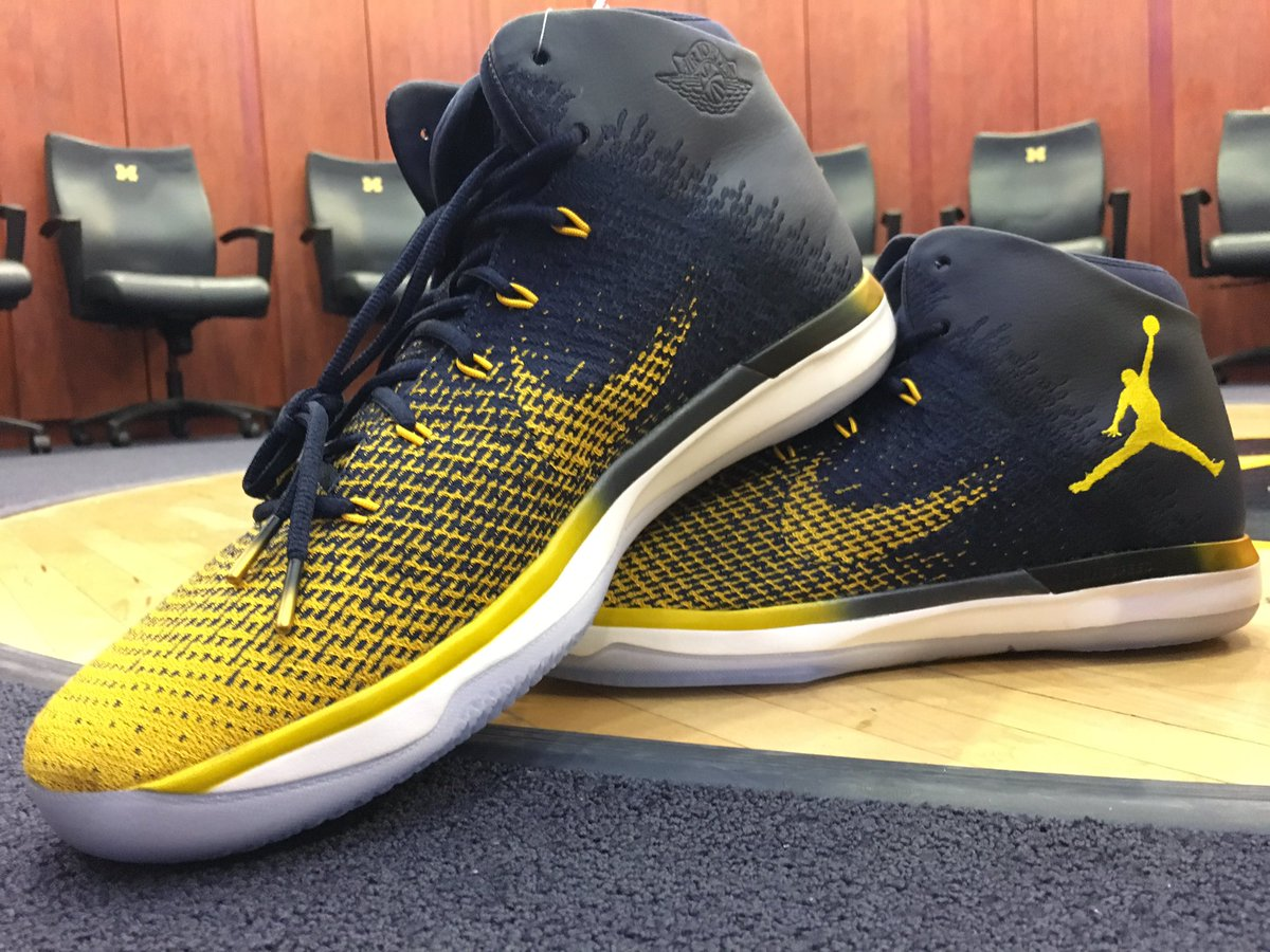 Official Jordan Michigan Basketball shoes