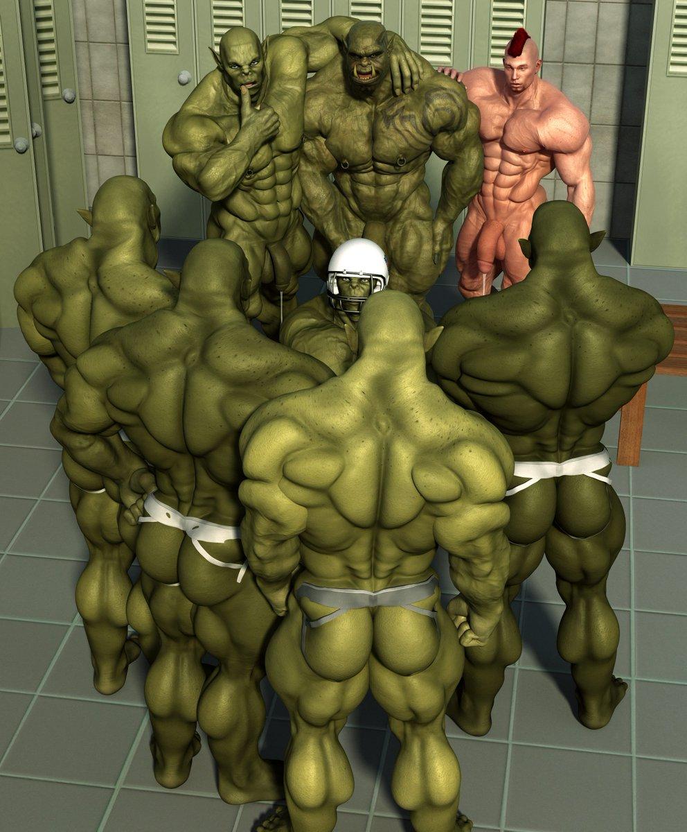 gay 3d orc art