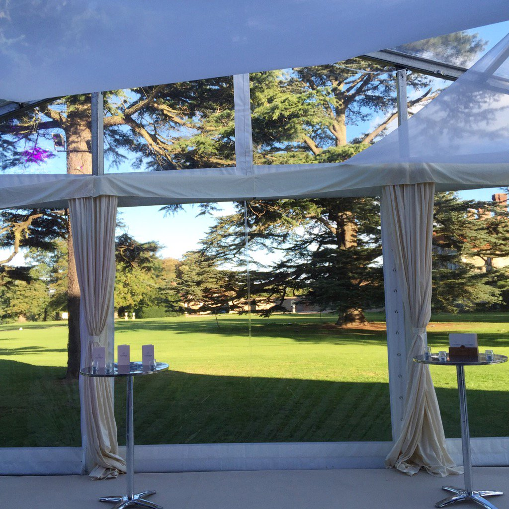 View from stunning #clear span #marquee for tonight's event with @insideoutsidemarquees @LoseleyPark @Loseleyevents