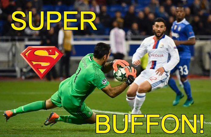 VIDEO Juventus, Super Buffon ritrova i superpoteri e blinda la porta a Lione in Champions League.