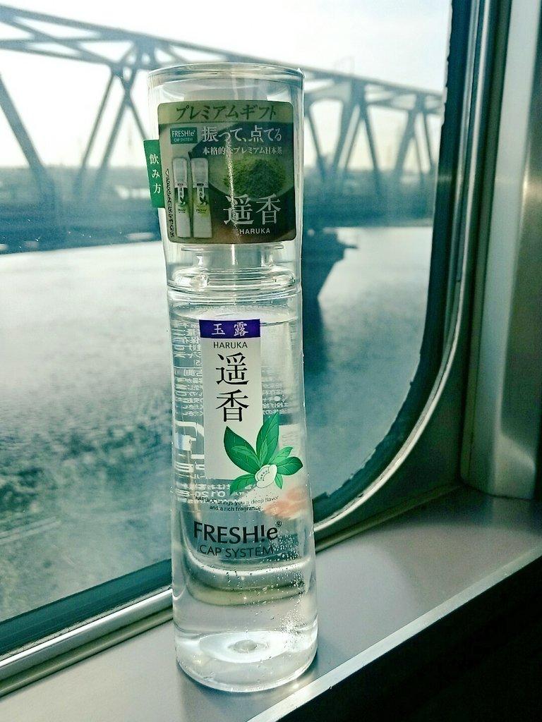 東京駅と名古屋駅にある「プレミアムキオスク」で買える、化粧水みたいな玉露。あま〜い。一本500円するだけある🍵