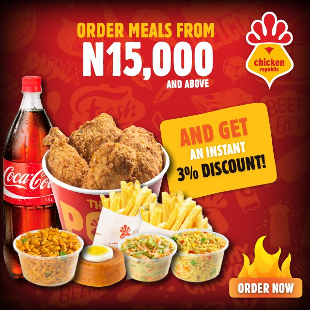 Chicken Republic On Twitter Want 3 Discount Order Meals From N15