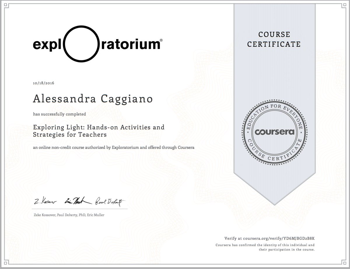 Alessandra Caggiano On Twitter Yay Got My Coursera Certificate