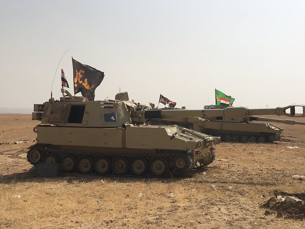 Outside of #Mosul #Iraq armor with Shia flags does not help combat the perception of a sectarian army https://t.co/gRj6NUVyMj