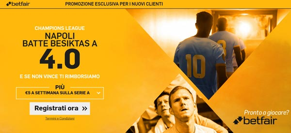 bonus betfair.it super quota