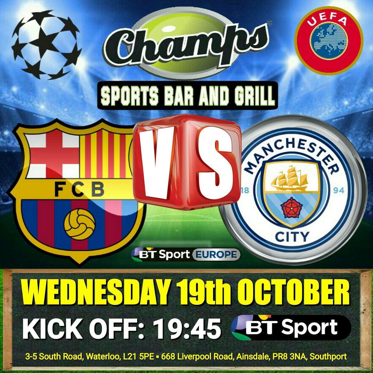 champions league kick off tonight