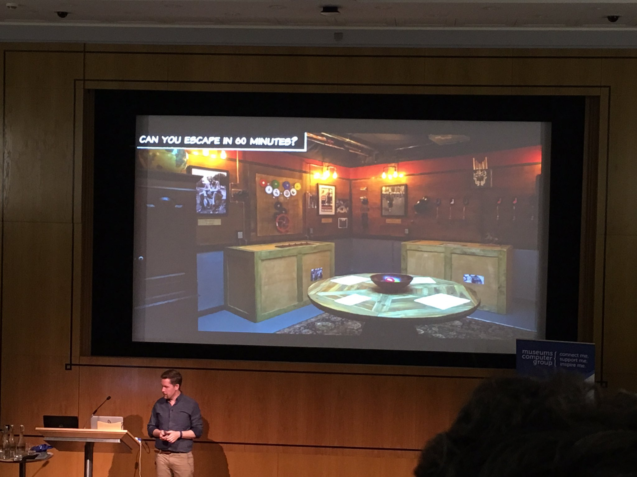 'How about setting up an exhibit to be an escape the room game?' #musetech16 (Yes! If anyone wants to collaborate on this, let us know!) https://t.co/1gunDYlZP5