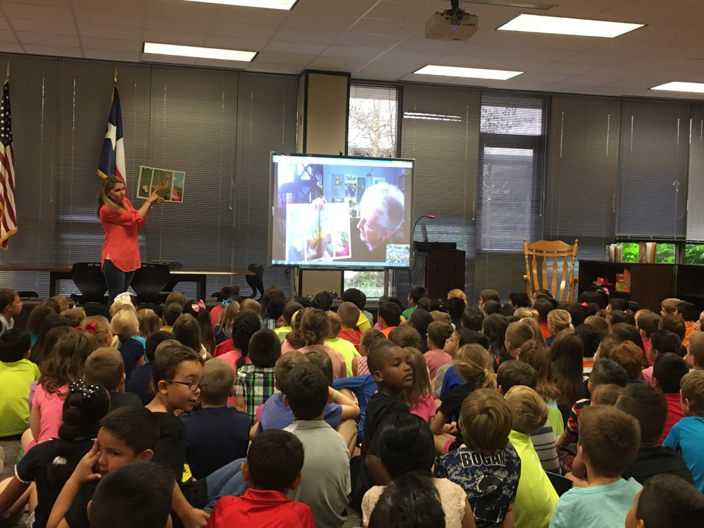 Author Jonathan Emmett visits @TISDDPES all the way from England. Skype is awesome! #DeckerStrong