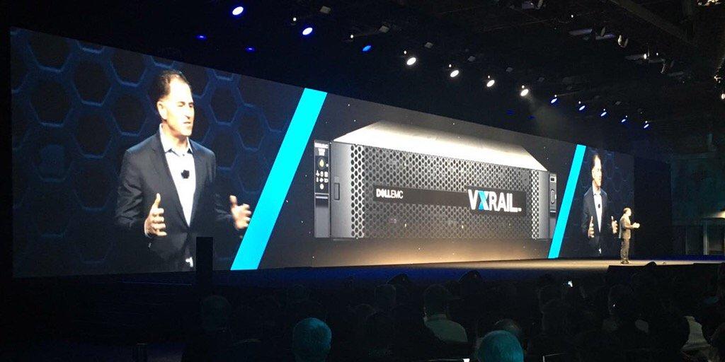 O Michael Dell acaba de anunciar uma nova solução Dell EMC VXRail. #DellEMCLive https://t.co/e910jsb4Dl