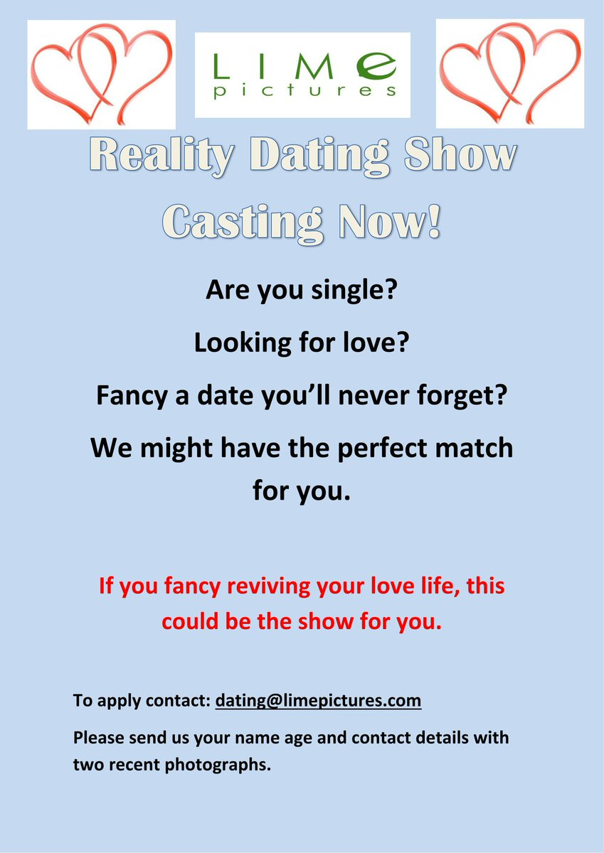 Must be at least 18 to apply.. you deserve a chance to FIND LOVE on an all-new dating show Your dating history and IDEAL MATCH.