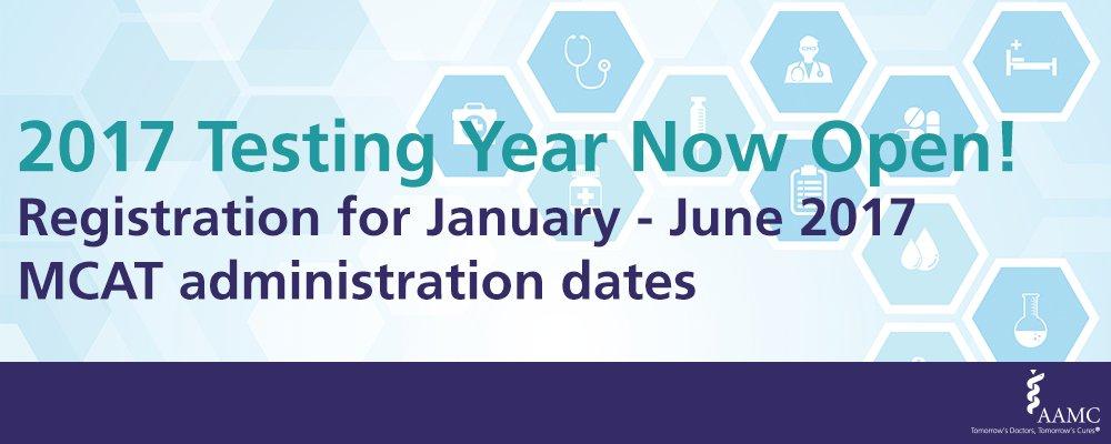 Mcat registration dates in Melbourne