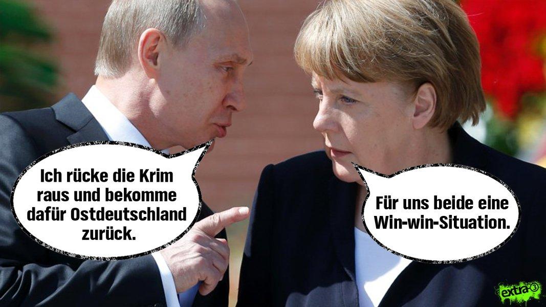 Und nächste Woche lässt die ARD darüber abstimmen. #Putin #Merkel #Ukraine #Syrien