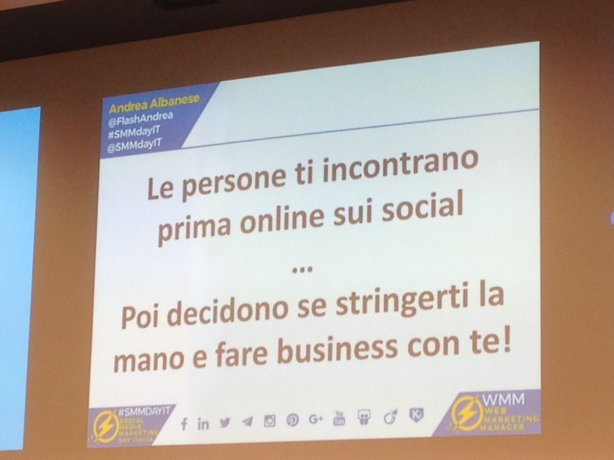 Dal mondo digitale a quello reale, ma prima di fare business ti cerco in rete #SMMdayIT https://t.co/5vZSeo0sN5