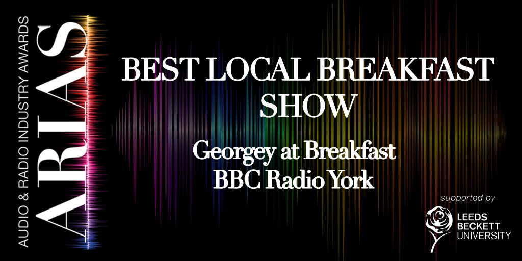 The next award is Best Local Breakfast Show... and the winner is @spanswicktweets from @BBCYork #UKARIAS https://t.co/vB63M7uthi