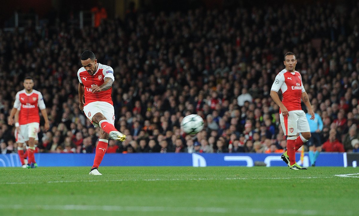 Goal! Walcott scores yet again after brilliant strike from Sanchez