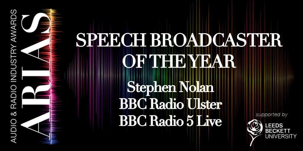 The winner is @StephenNolan @BBC5live @bbcradioulster! #UKARIAS https://t.co/MfUwfqTeDG