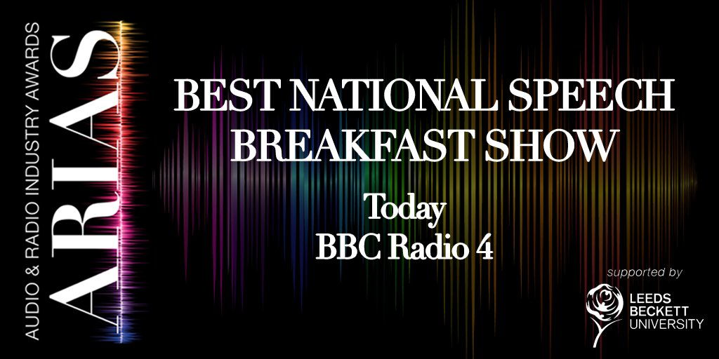 The gold winner is...  @BBCR4today! #UKARIAS https://t.co/ms231csUMb