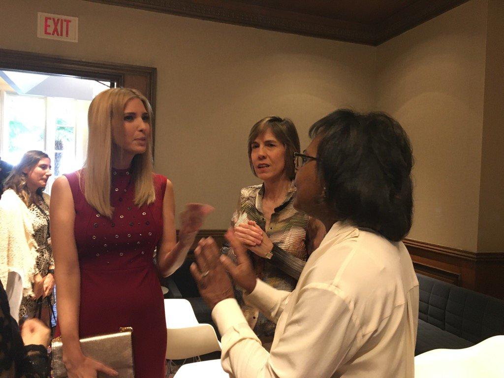 Ivanka Trump and Anita Hill backstage at #FortuneMPW @foxnewspolitics https://t.co/EqMCJRfv1m