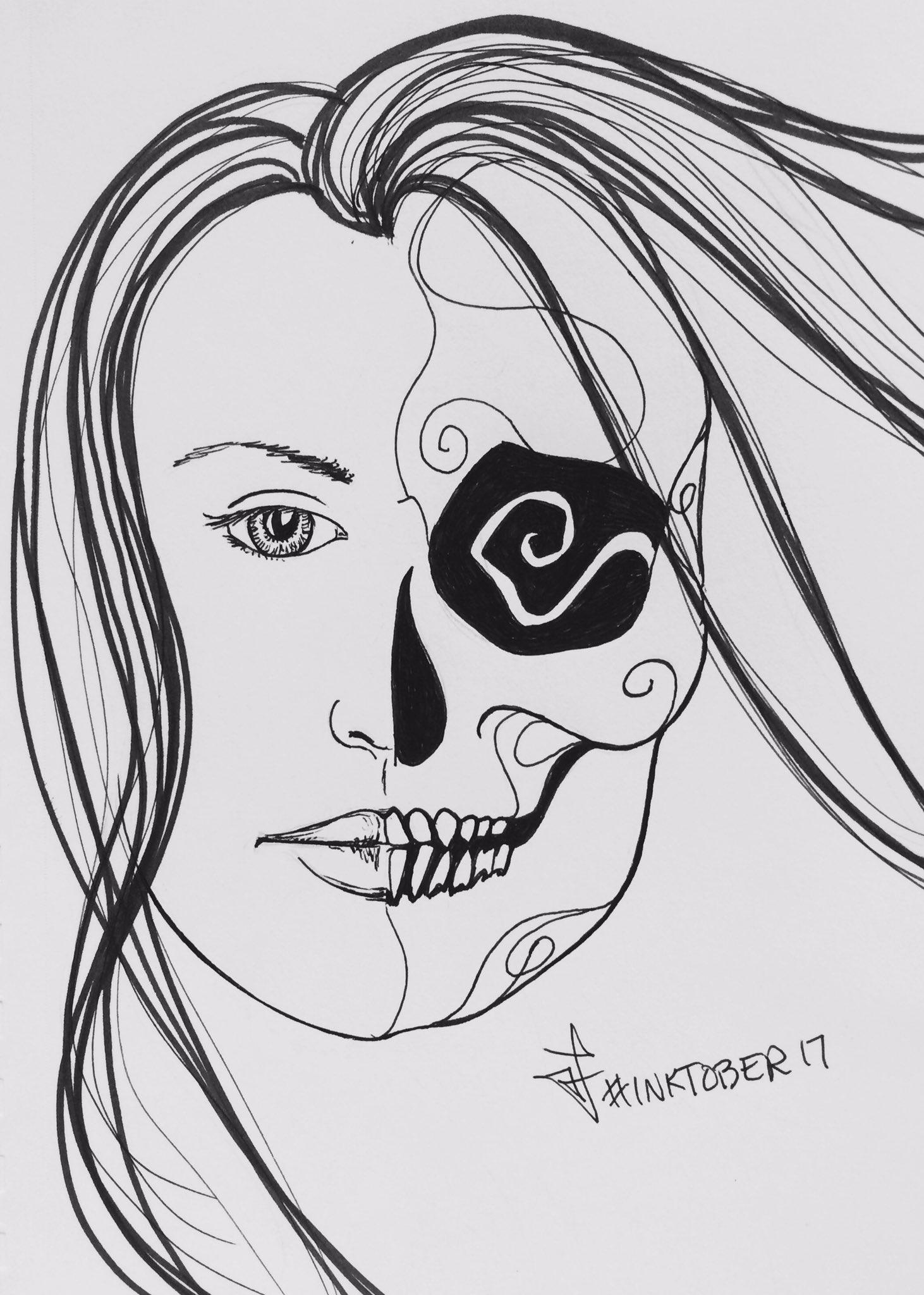 Day 17 #inktober #sketch #skull #meh #forgotattachmentagain!! https://t.co/WSyY58cq8D