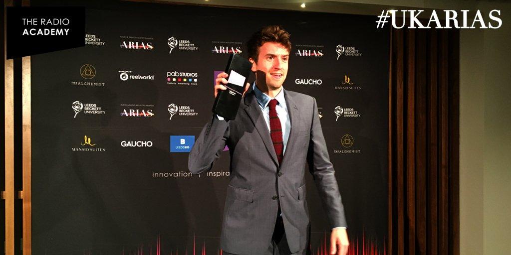 Here's @gregjames collecting his award! Yaaaas. #UKARIAS   Congrats! https://t.co/ruGYRcr2Dk