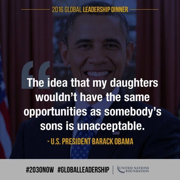 .@AmbassadorPower shared an important message from @POTUS on gender equality. #2030NOW #Goal5 https://t.co/mlwQlYjzSS