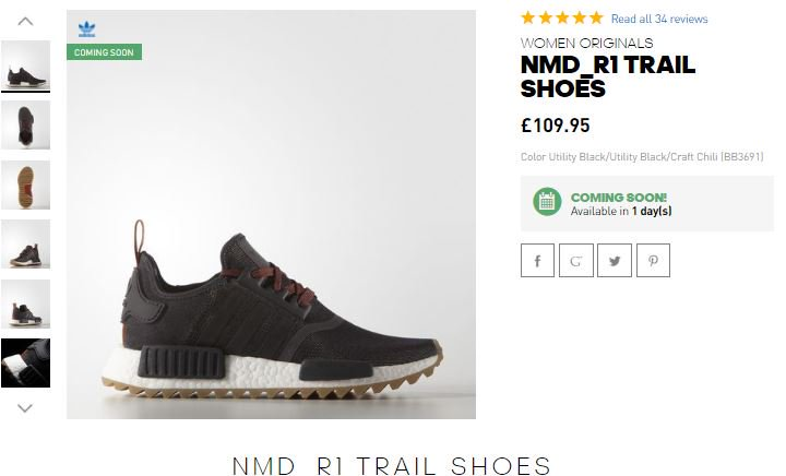 & other stories Adidas Nmd R1 Trail in Grey Lyst