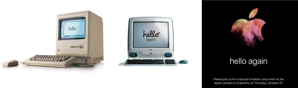 Apple and hello. Invite elicits idea of Mac renaissance. https://t.co/guRj9pXl4K