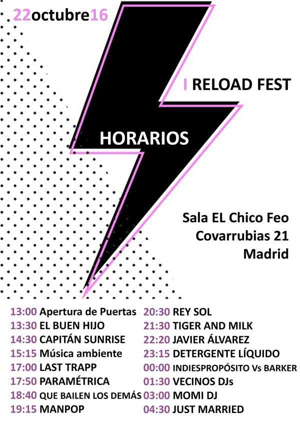 Horarios Reload Fest