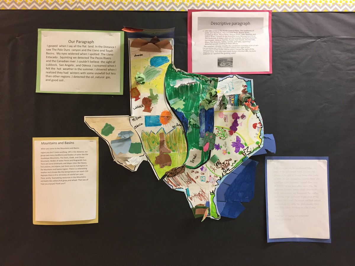 Map Of Texas For 4th Grade.Nicole Mccasland On Twitter 4th Grade Texas Regions