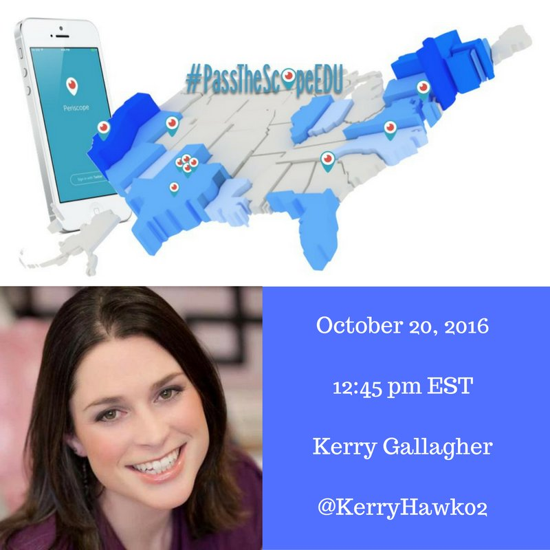 Join me at 12:30 pm EST for my #PasstheScopeEDU #AgentofChange broadcast. Then, tune in for @KerryHawk02 at 12:45! https://t.co/VUXBeYWFju