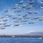 この光景を見てみたい?同じ場所・同じ時間帯の飛行機を撮り続け1枚にした写真!