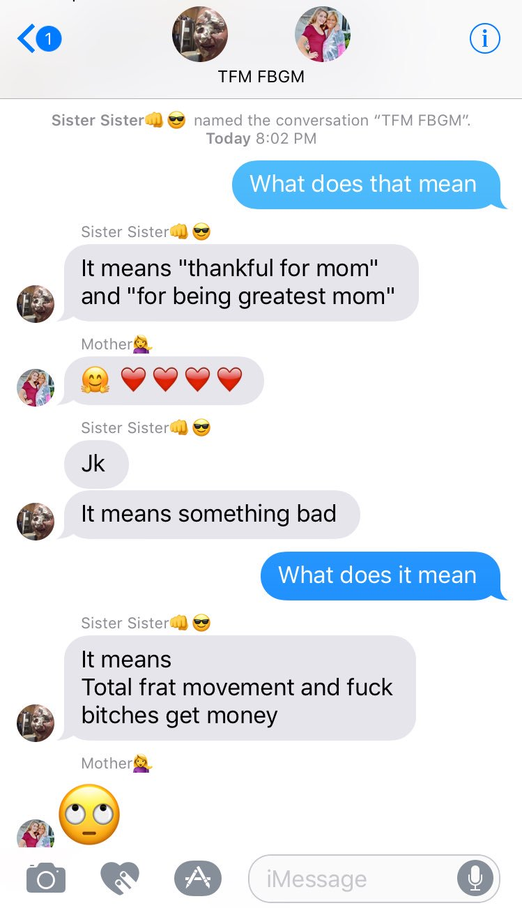 What does fbgm mean in texting