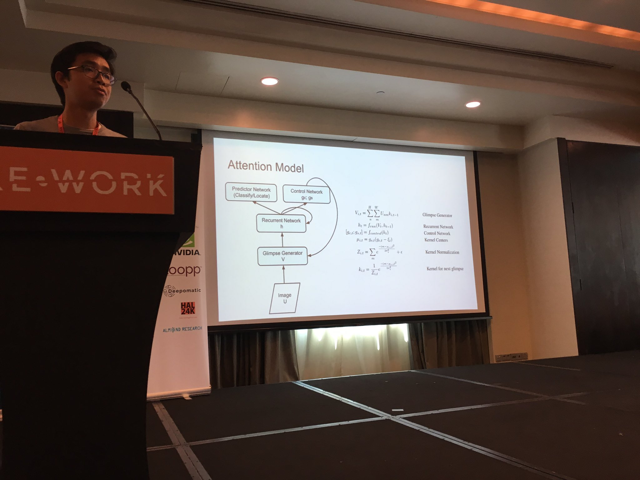 """""""Why Attention?"""" Brain Cheung from @UCBerkeley  on The Fovea as an emergent property of Visual attention  #reworkdl @teamrework https://t.co/3bGQ9YT4zP"""