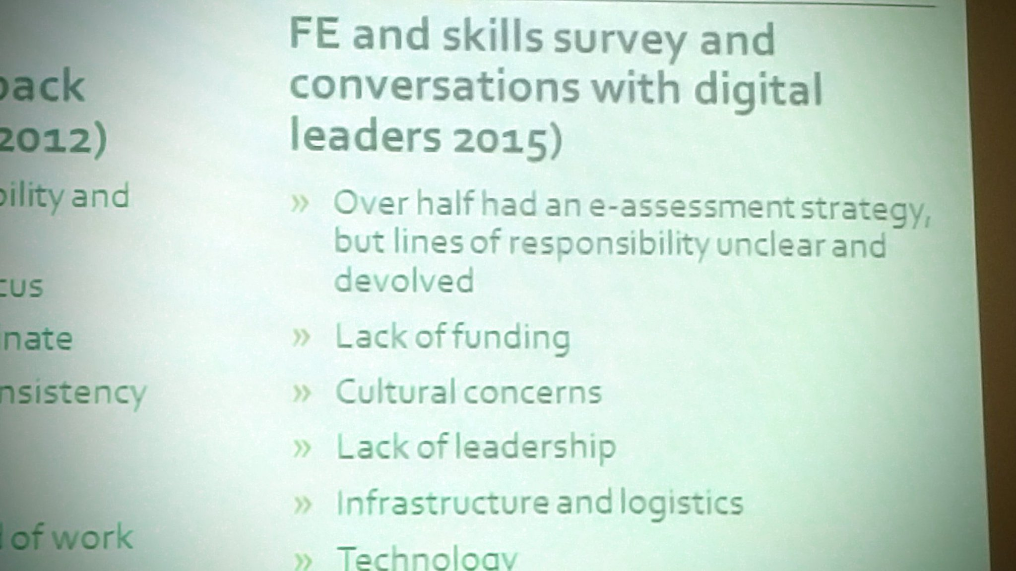 Why technology and Assessment under-utilised in #FE   @jisc #feltag #jiscassess https://t.co/bppdHHRP6x