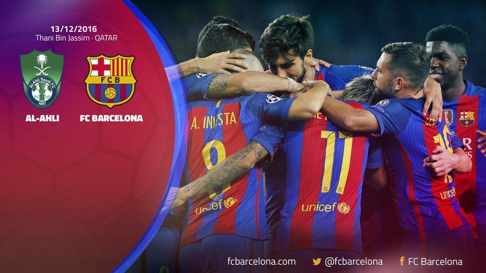 📍 @FCBarcelona to play December 13 friendly in Doha, Qatar against Al-Ahli Saudi FC.  FULL STORY:…https://t.co/zV1lg8z8Vi h#FCBLivettps://t.co/iyZ4gMupUS
