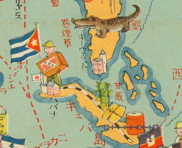 Kat bee on twitter japanese world map 1933 california is all japanese world map 1933 california is all navy ships and charlie chaplin cuba and florida all sugar cane and gators ht mulboynepicitter gumiabroncs Image collections