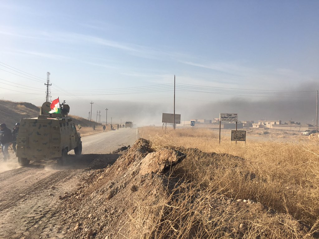 Peshmerga have taken a number of villages on Nawaran front, north of Mosul