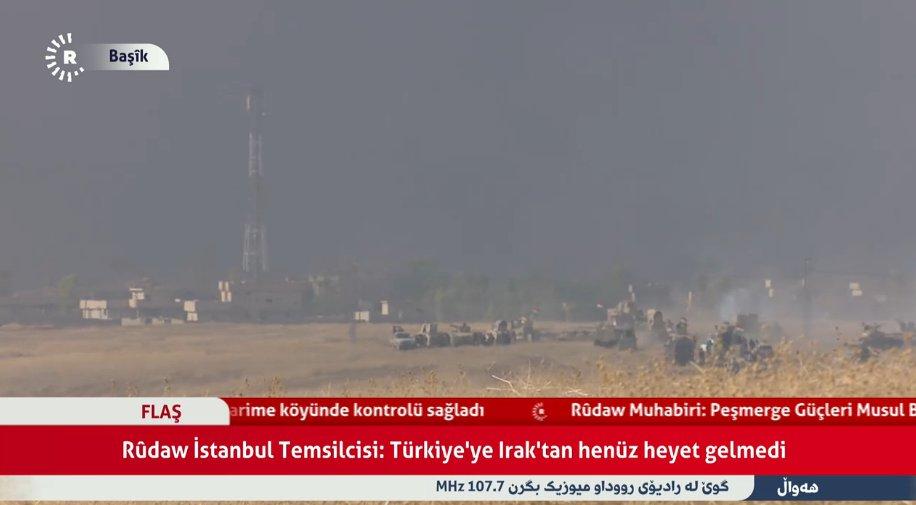 Peshmerga forces are at the entrance of Baybukhat Bashiqa village